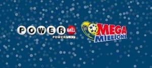 Powerball and Megamillion logos.