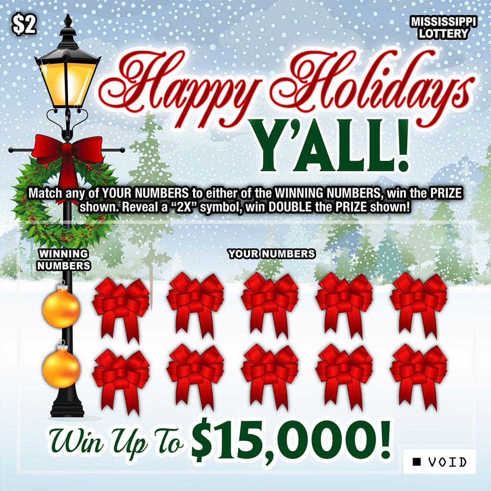 Happy Holidays Y'all Scratch-off game