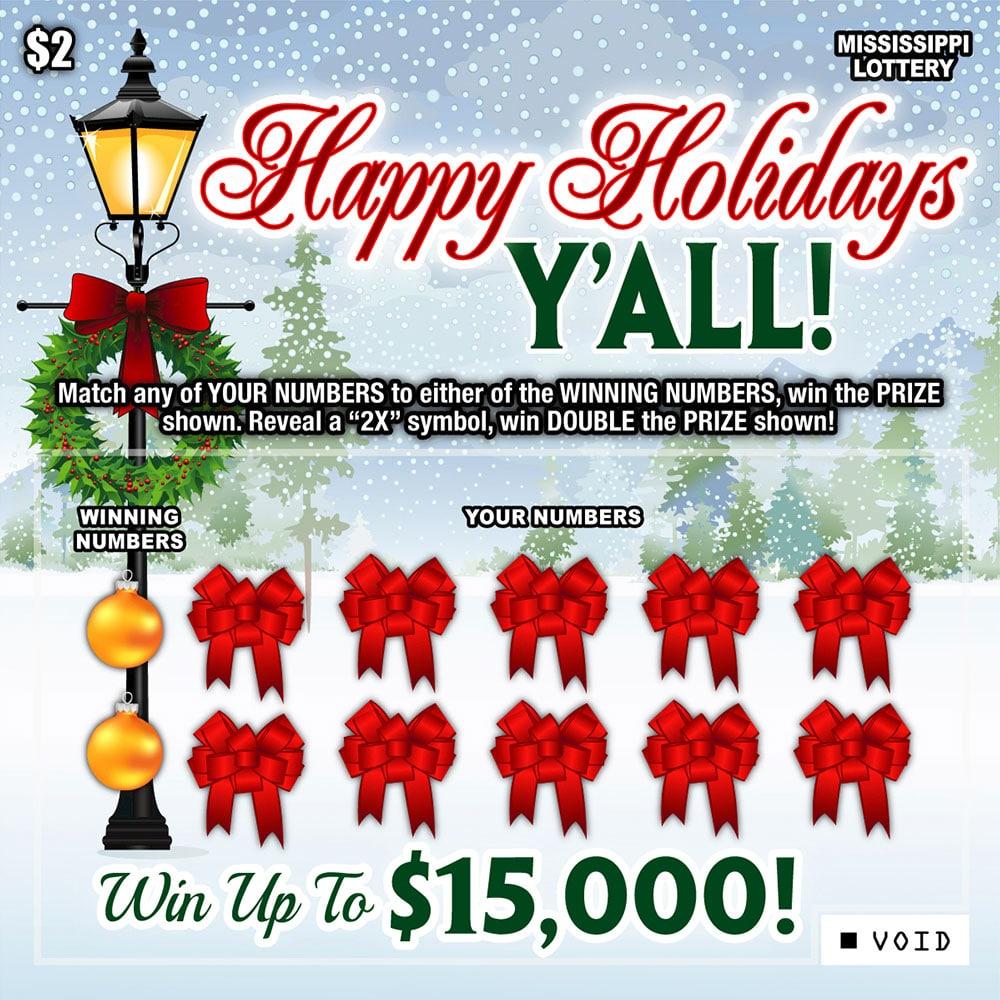 Happy Holidays Y'all Scratch-off game