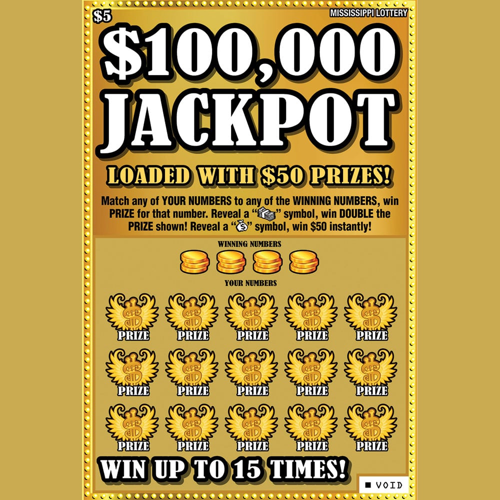 $100,000 Jackpot Scratch off Teaser