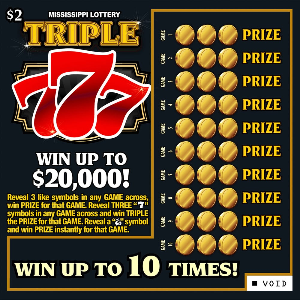 Triple 777 Scratch Off Game