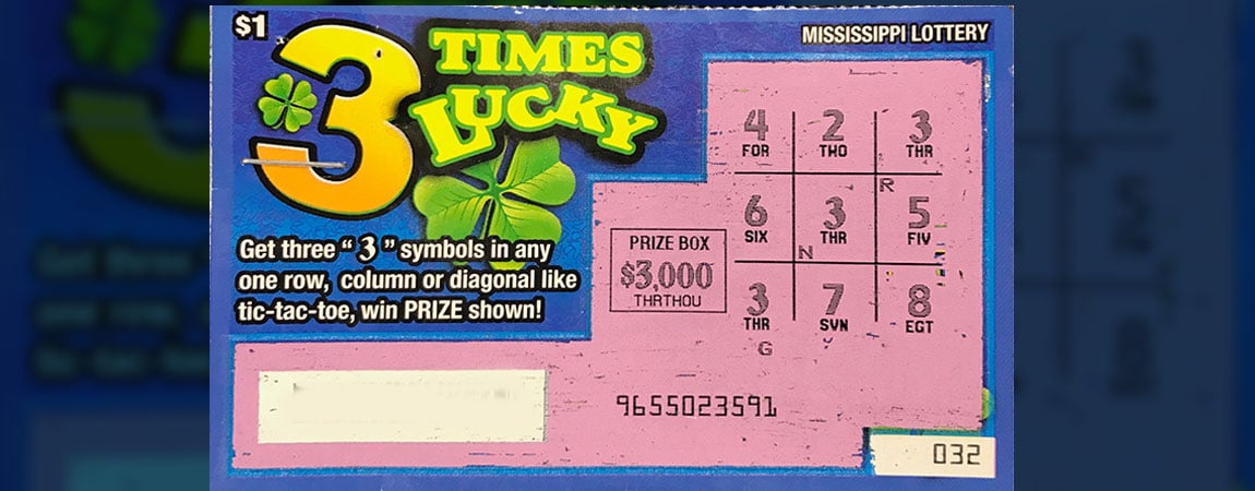 Columbus man wins $3,000 on 3 Times Lucky