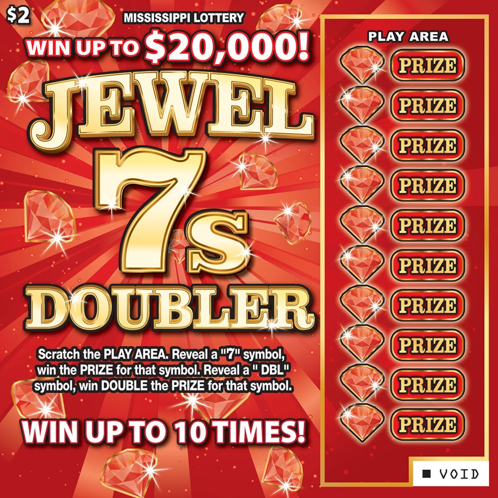 Jewel 7s Doubler Scratch-off game