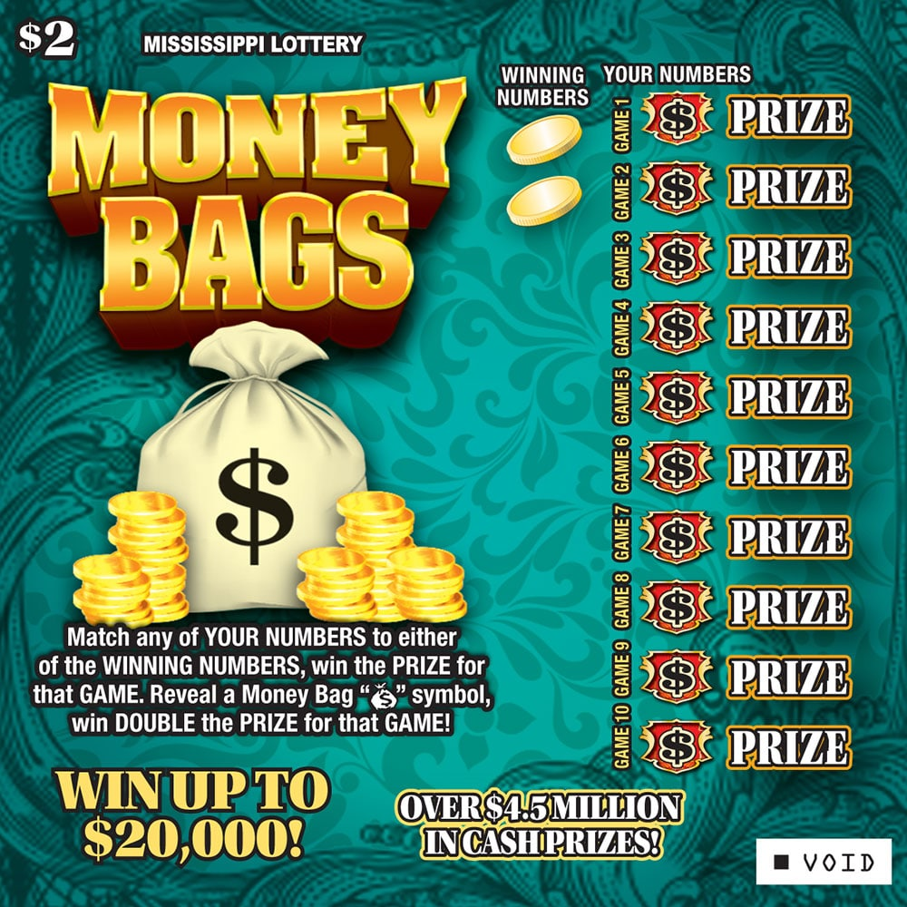 Money Bags scratch-off game