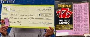 $2,000 Triple 7 winner in Madison