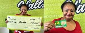 Annett M. of Meridian won $2,000 on a winning Fast 50 scratch-off ticket
