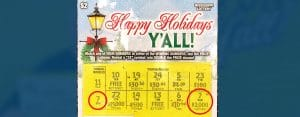 A Collierville, TN resident won $2,000 on a winning Happy Holidays, Y'all scratch-off game purchased from Circle K in Olive Branch.