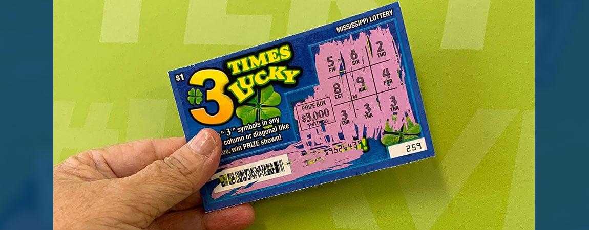 Amory woman wins 3 Times Lucky jackpot of $3,000