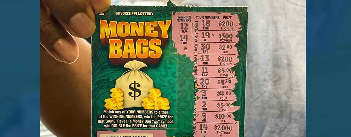 Jackson man wins $2k on Money Bags scratch-off
