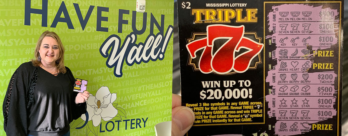 Melissa of Petal Wins $2,000 on Triple 777 scratch-off