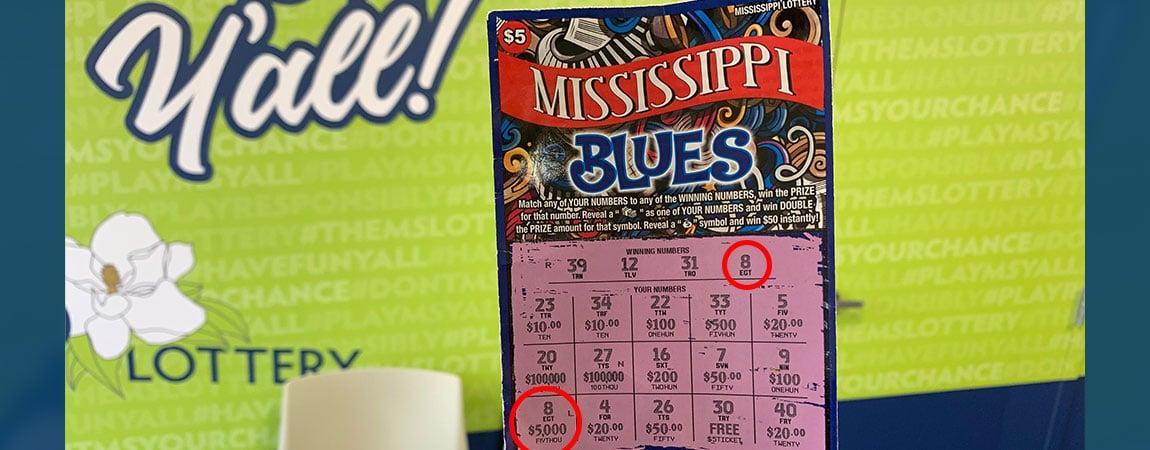 Columbus Man Wins $5,000 on MS Blues scratch-off