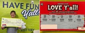 Patty L. of Petal wins Love Y'all Jackpot of $2K