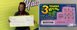 Shanica H. of Holly Springs won $3,000 from a 3xs Lucky winning scratch-off game
