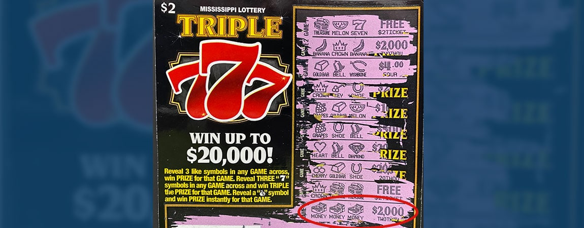 Jones County man wins $2,000 on Triple 777
