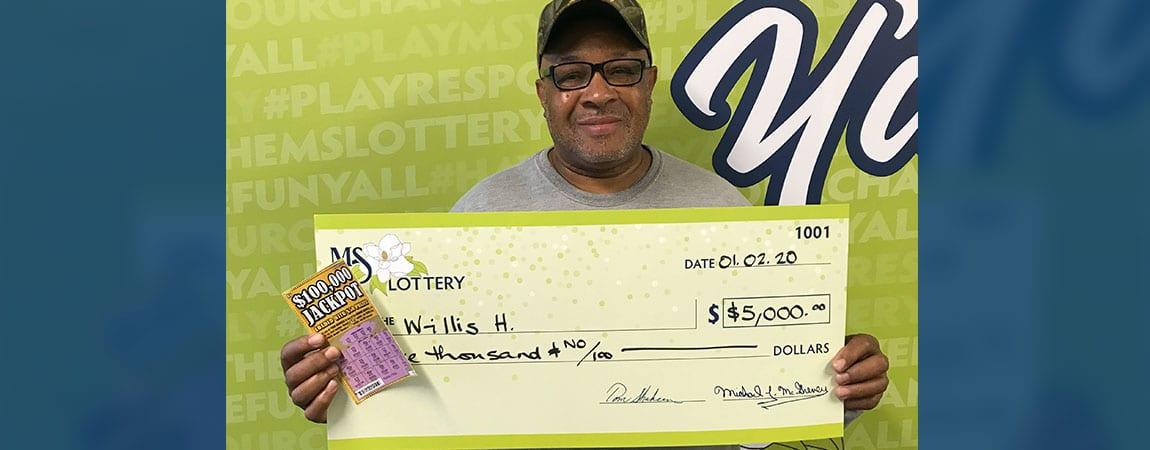 Willis of Ethel Wins $5K on $100,000 Jackpot