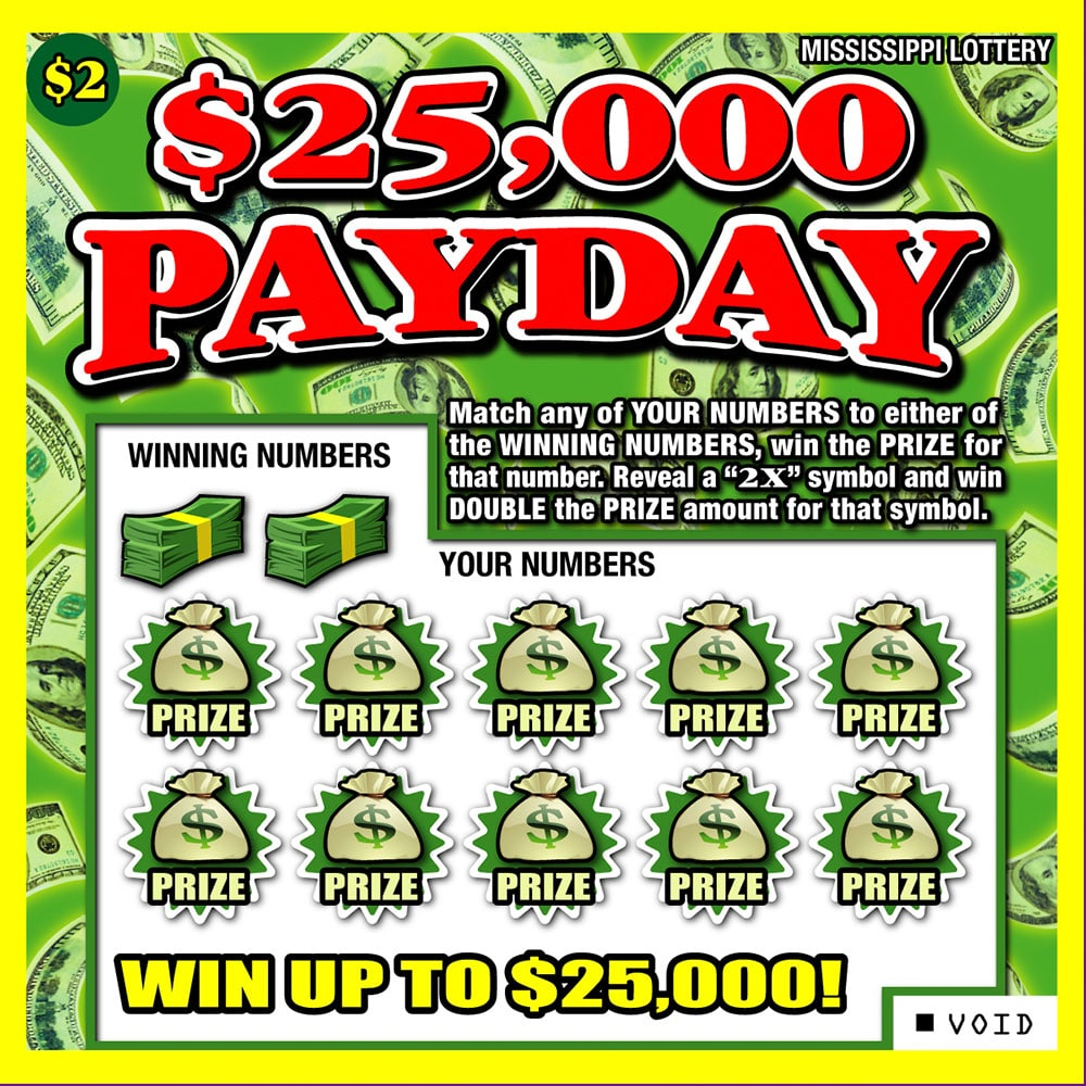 25,000 Payday scratch-off