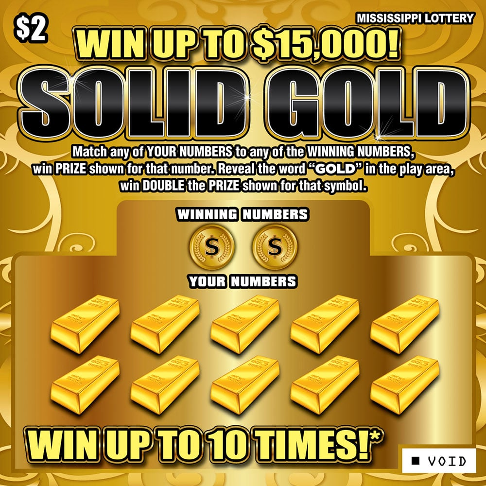 Solid Gold scratch-off game