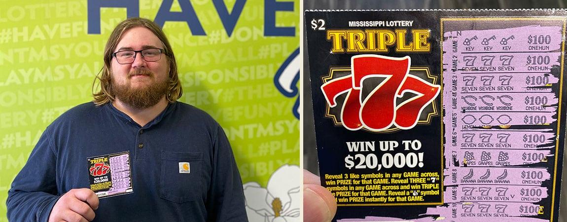 John of Brandon wins $2,000 on triple 777 scratch-off