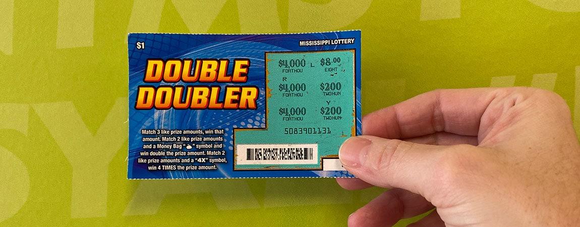 Hattiesburg woman wins $4,000 jackpot on Double Doubler scratch-off
