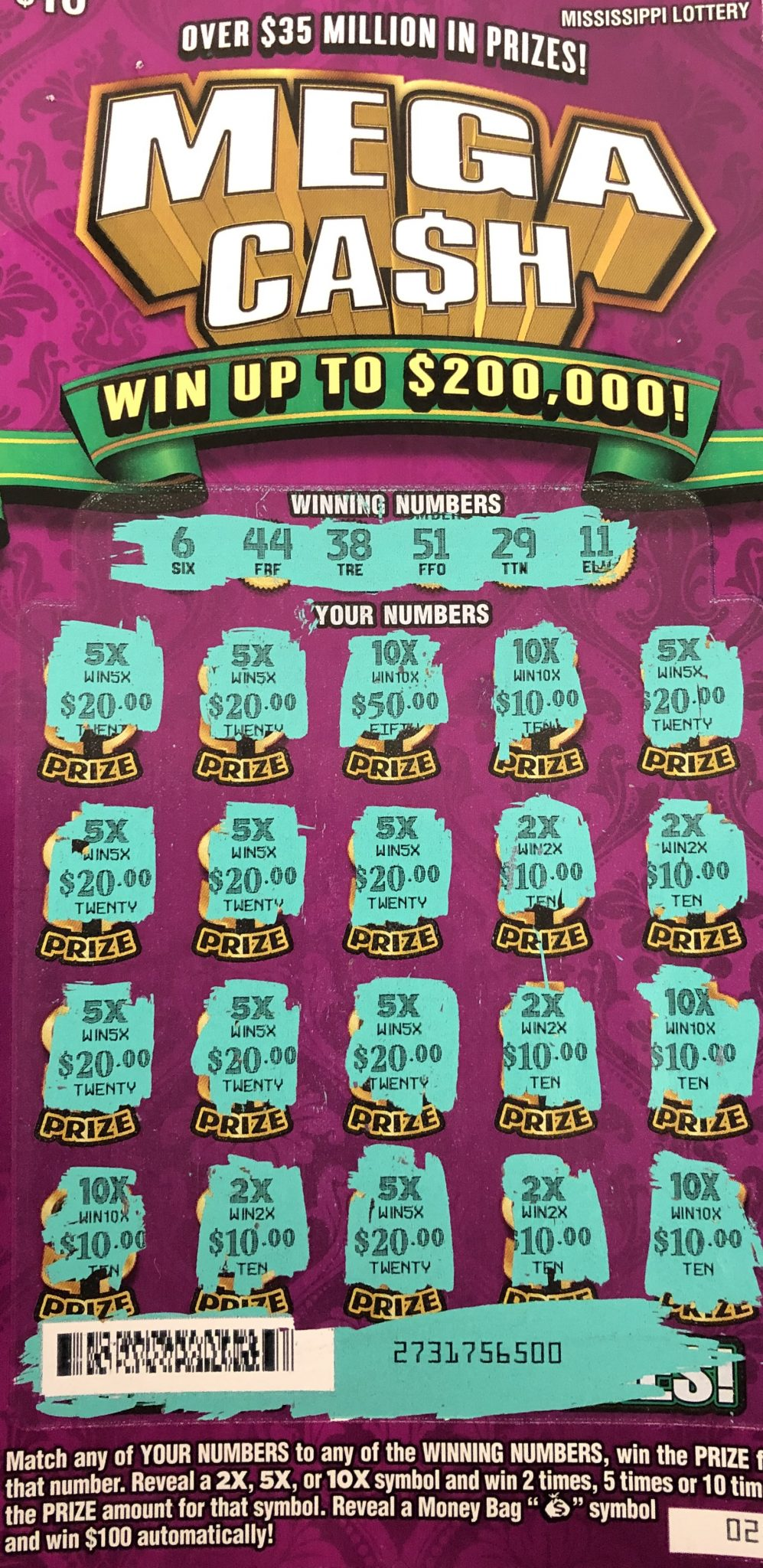 Booneville Man Wins $2K! - Mississippi Lottery