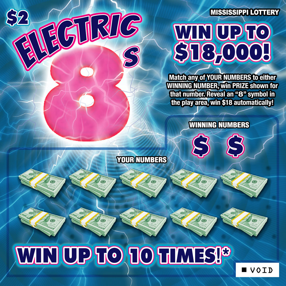 Electric 8's Instant Scratch-off game