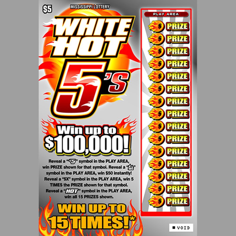 White Hot 5's scratch-off game