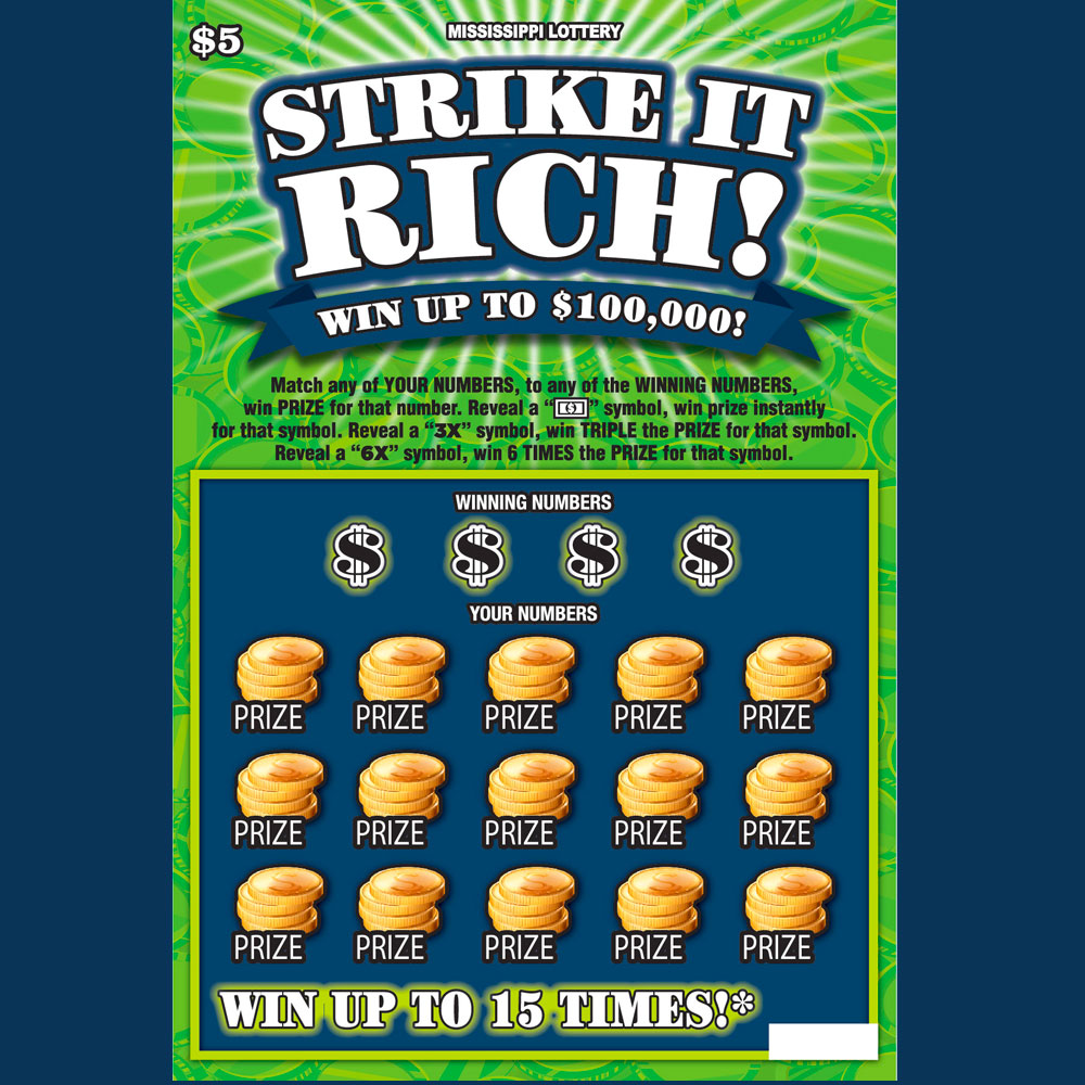 Strike it Rich scratch-off game
